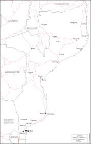 Mozambique Map Mozambique Map With Counties Travelquaz Com