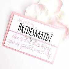 will you be my bridesmaid will you be my bridesmaid handmade wish bracelet by team hen