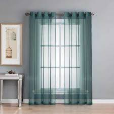 Sheer Blue Curtains Solid Gradient Blue Sheer Curtains U0026 Drapes Window