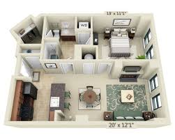 floor plans and pricing for 1301 thomas circle washington dc one bedroom a1d