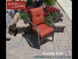 Patio Furniture Assembly Backyard Creations Orchard Valley 4 Piece Deep Seating Patio Set