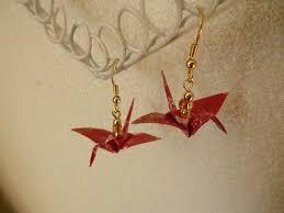 origami earrings diy origami crane earrings