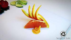 citrus garnish secrets of sushi
