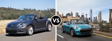 volkswagen mini volkswagen beetle convertible vs 2016 mini cooper convertible