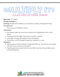 math multiplication games