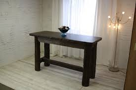 Oak Sofa Table With Drawers Furniture White Oak Console Table Reclaimed Wood Sofa Table