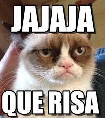 Memes Espaã Ol - jajaja grumpy cat reverse meme on memegen