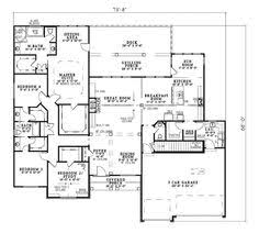 One Story House Plans With Bonus Room House Plan 17 2060 One Floor Living With The Bedrooms All One