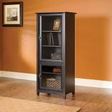 Dvd Storage Cabinet With Doors Door Sauder Vinegate Storage Tower Antiqued Paint Walmartcom Media