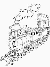 cartoon train coloring pages free printable coloring pages