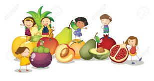 fruits u0026 vegetables clipart healthy child pencil and in color