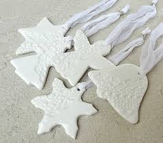 porcelain decorations white with lace imprint ceramic