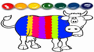 cow coloring page coloring book learn colors youtube