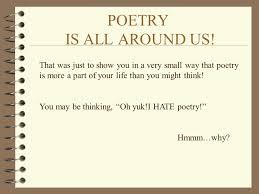 poetry arthrell ppt
