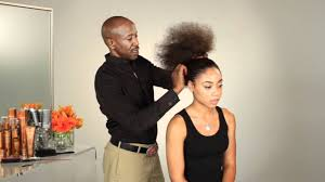 hair pony tail for african hair how to style natural african american hair in a pony tail