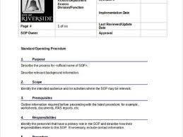 writing a standard operating procedure sop template writing sops