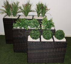 keter round brown rattan resin planters set of 3 rattan