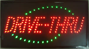 sale custom neon signs led drive thru sign neon light plastic