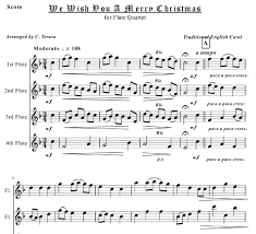 we wish you a merry for flute quartet sheet