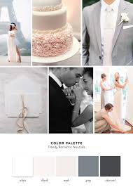 color palette trendy romantic neutrals cake and lace wedding