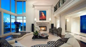 nice white wall luxury building interior with cream floor and warm