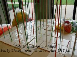 Columns For Party Decorations Click Pin For Diy Pole And Base Kits To Make Balloon Columns Or