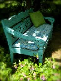 i would love to find an old bench and paint it a nice cheery