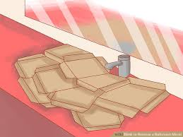 Remove Mirror Glued To Wall How To Remove A Bathroom Mirror 9 Steps With Pictures Wikihow