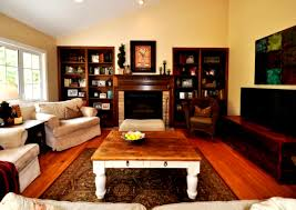 wooden coffee wall decor great room ideas with decorative area rug plus wooden