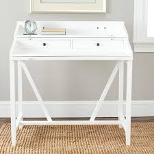 Small Desk With Pull Out Drawer Small White Two Tiers Writing Desk With Two Drawers On Traditional
