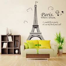 popular paris home decor buy cheap paris home decor lots from 1x paris eiffel tower home decor decal wall sticker pvc removable wallpaper mural china
