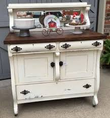 Cottage Style Buffet by Antique Buffet With Mirror White Milk Paint From Julies Box For