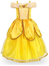 amazon com alead princess belle yellow dress up party accessories