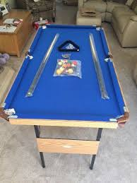 4ft pool table folding folding 4ft 6inch pool table with blue cloth brand new in box in