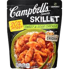 Campbell Kitchen Recipe Ideas by Amazon Com Campbell U0027s Skillet Sauces Sweet U0026 Sour Chicken 11