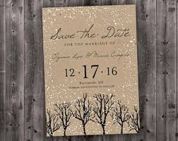 affordable save the dates snow save the date etsy