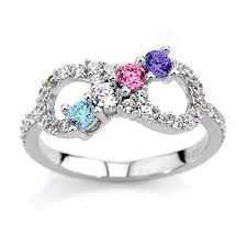 6 mothers ring nana silver infinity mothers ring with 1 to 6 simulated