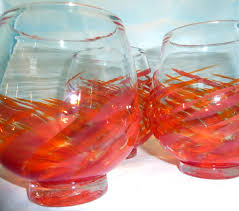 dragon fire stemless wine glasses set of 3