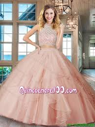 quinceanera dresses light pink designer backless ruffled and beaded bodice quinceanera dress in