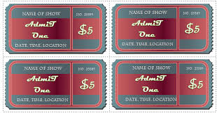 avery tickets template 6 ticket templates for word to design your own free tickets