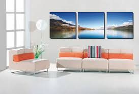 how to hang canvas art without frame blue lake modern canvas art wall decor landscape canvas prints