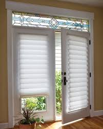 window treatment ideas for doors tiered roman shade on french