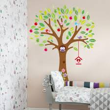 hot sale 3d large owl apple tree wall sticker mural vinyl decal hot sale 3d large owl apple tree wall sticker mural vinyl decal kids room decor vivid cartoon wallpaper stickers metal wall ar contemporary wall stickers