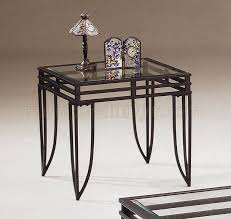 Coffee Table With Metal Base by Metal Base 3pc Coffee Table Set W Clear Glass Tops