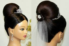 bridal hair bun bridal updo bun hairstyle for medium hair