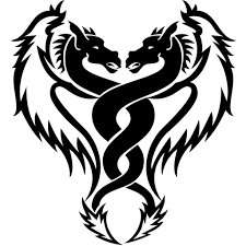 black and white designs and snake tattoos