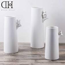 Buy Vases Online White Modern Vases Peugen Net