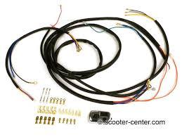 wiring loom set incl light switch bgm pro vespa ac conversion