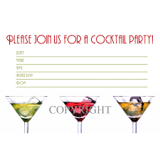 cocktail birthday party invitations invitation to birthday