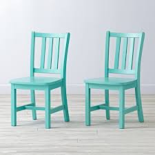 Turquoise Chair White Parker Kids Play Chair The Land Of Nod